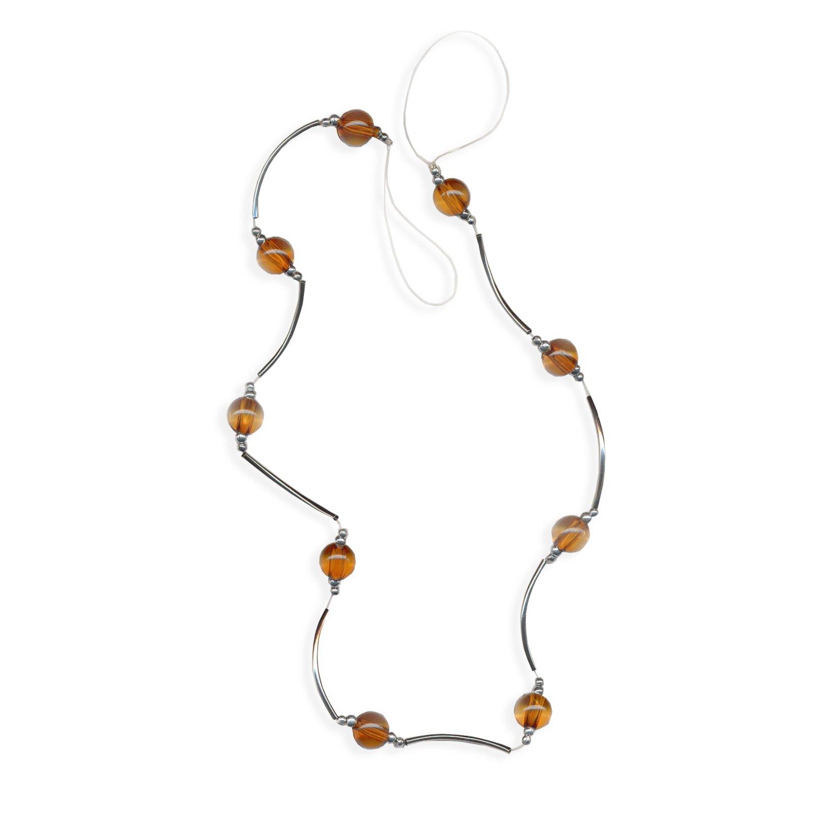 raffhalter mit perlen silber gold 65 cm gardinenstangen gardinen zubeh r gardinen. Black Bedroom Furniture Sets. Home Design Ideas