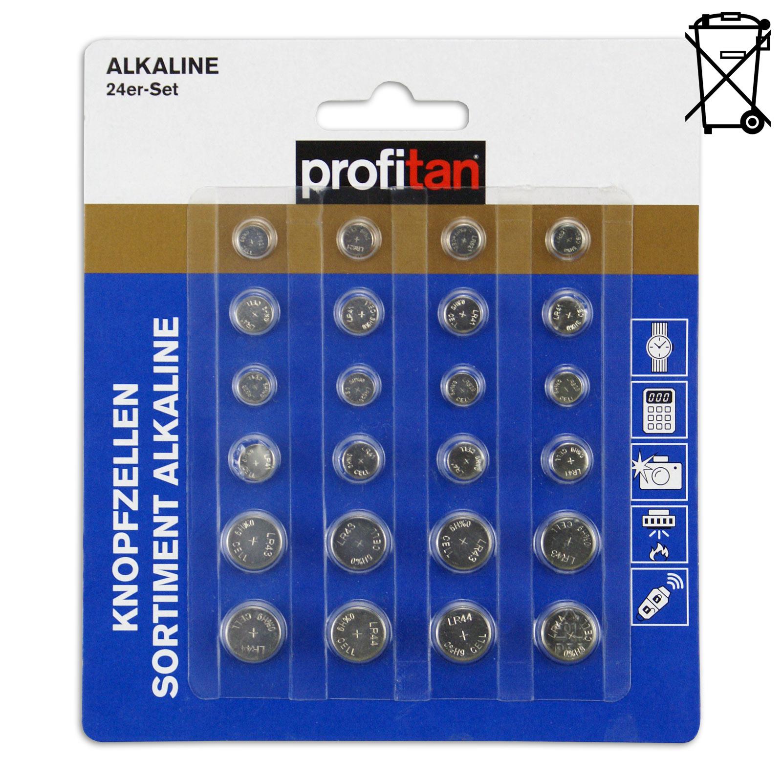 Alkaline 24 Stück ROLLER Knopfzellen-Sortiment