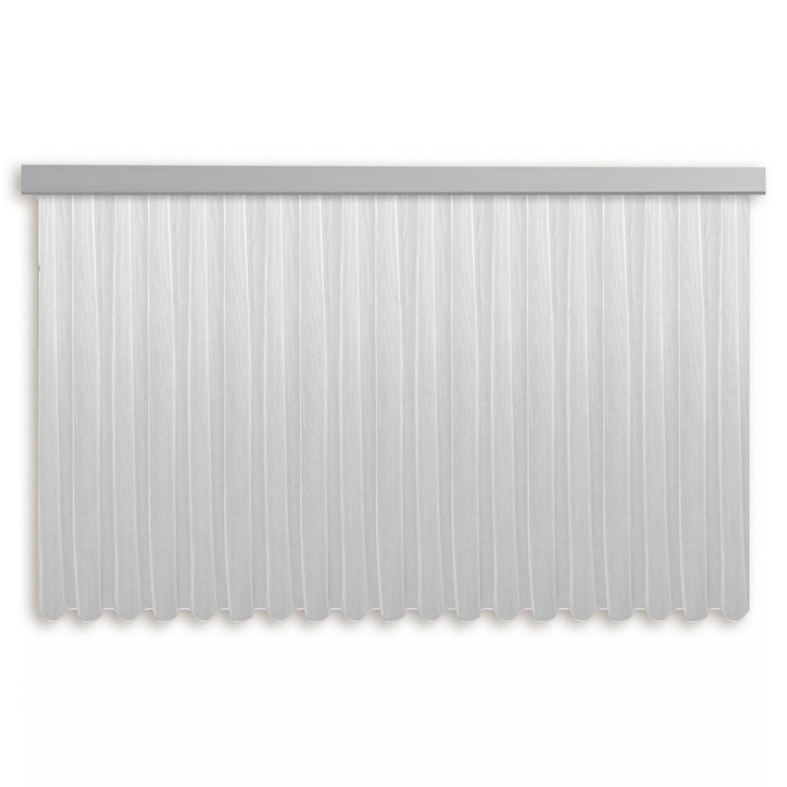Gardine MILANO - Fertigstore - weiß - 450x125 cm