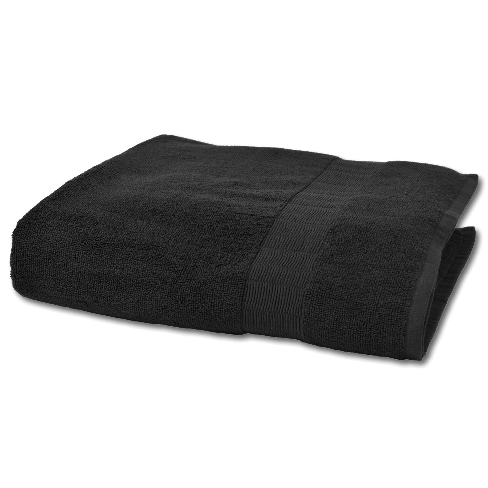 Duschtuch caesar schwarz baumwolle 70x140 cm for Bad deko schwarz