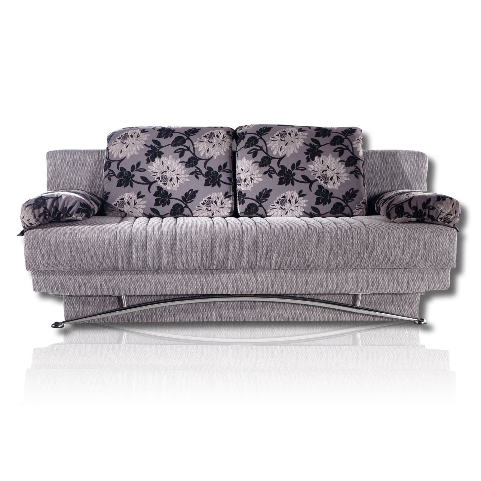 roller schlafsofa grau mit bonellfederkern ebay. Black Bedroom Furniture Sets. Home Design Ideas