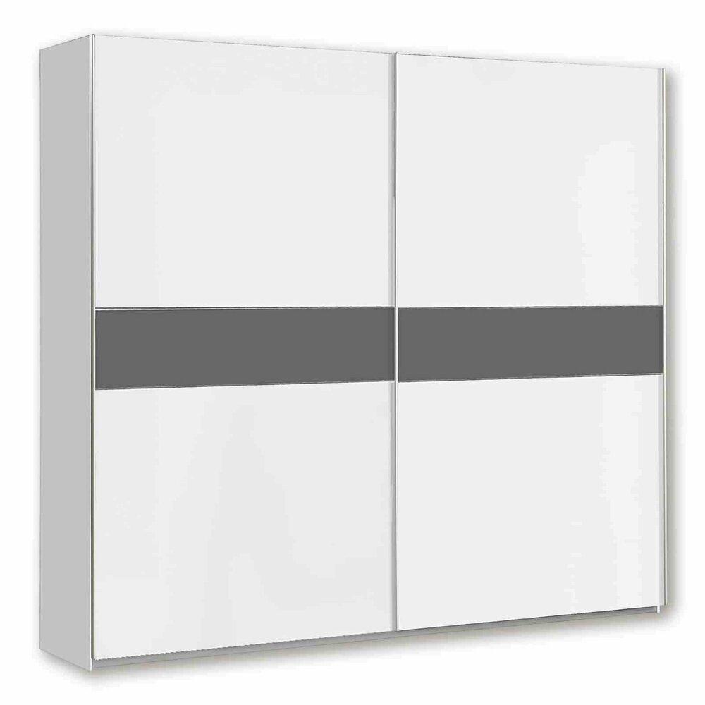 schwebet renschrank winner plus wei grau 220 cm breit schwebet renschr nke. Black Bedroom Furniture Sets. Home Design Ideas