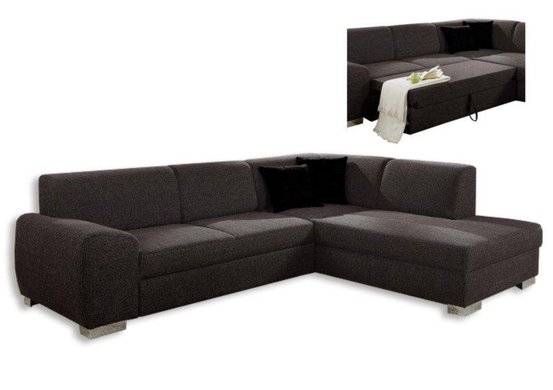 polsterecke dunkelbraun federkern liegefunktion links ecksofas l form sofas couches. Black Bedroom Furniture Sets. Home Design Ideas