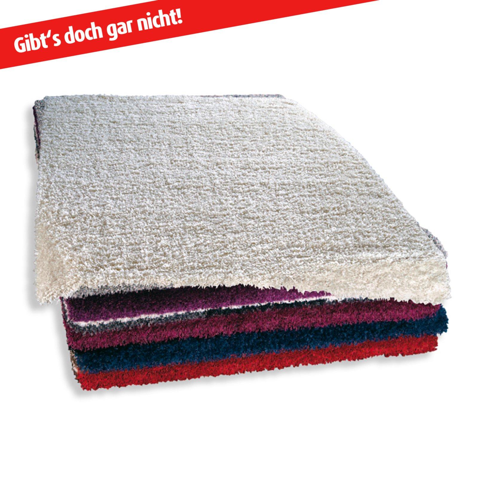 hochflor teppich shaggy plus wei 50x100 cm hochflor shaggyteppiche teppiche l ufer. Black Bedroom Furniture Sets. Home Design Ideas