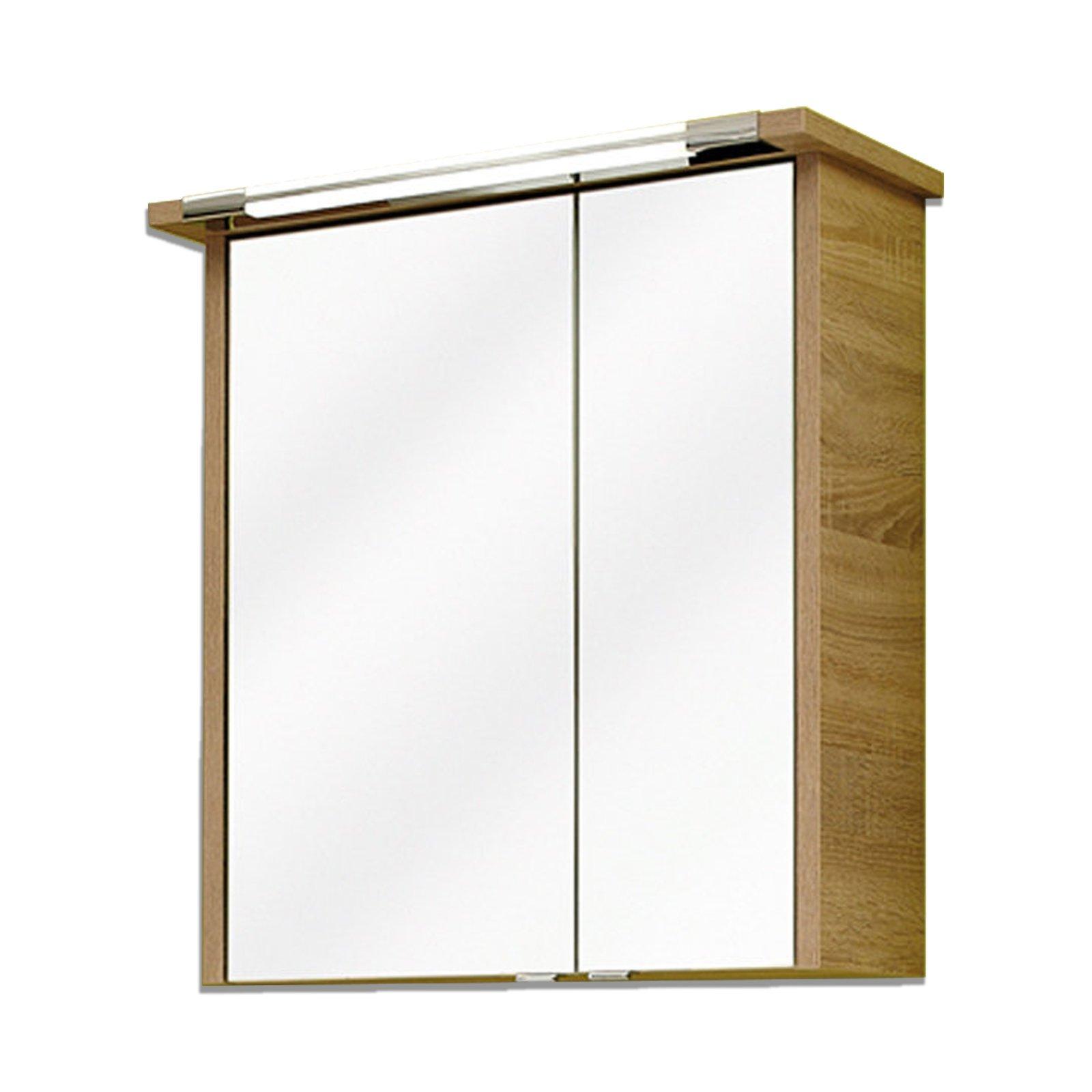 spiegelschrank lagos eiche natur 65 cm spiegelschr nke badm bel badezimmer. Black Bedroom Furniture Sets. Home Design Ideas