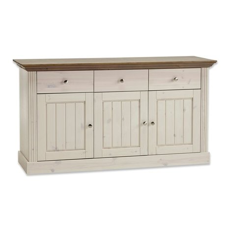 Sideboard MONACO -white wash stone - Kiefer massiv