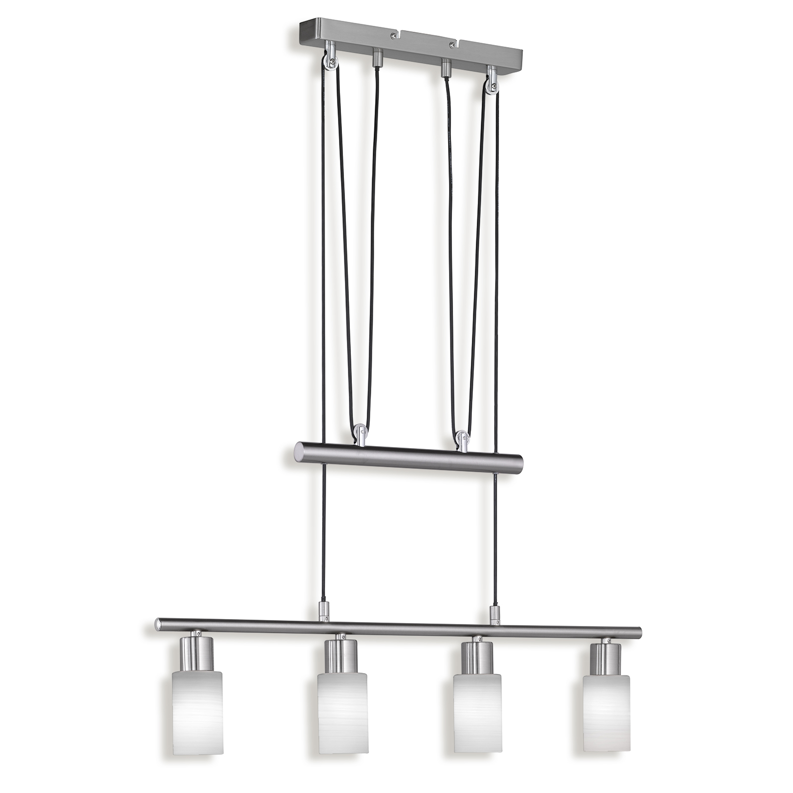 LED-Pendelleuchte - Nickel matt - 4-flammig