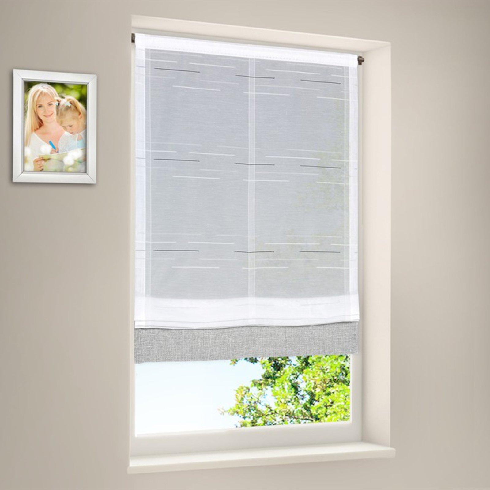 Raffrollo - weiß-grau - 60x125 cm | Online bei ROLLER günstig kaufen!