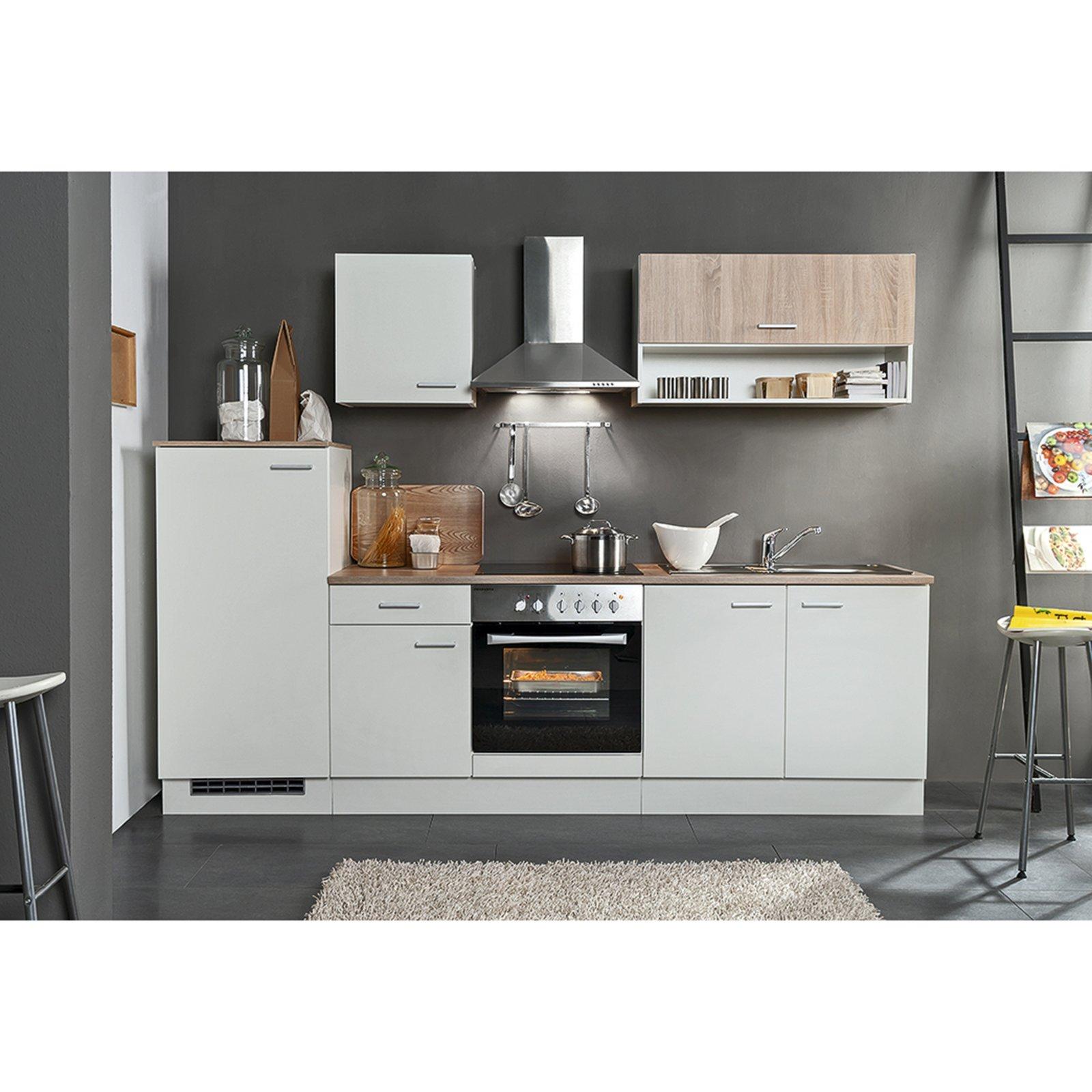 Küchenblock NORA - weiß - Sonoma Eiche - 270 cm | Online bei ROLLER ...