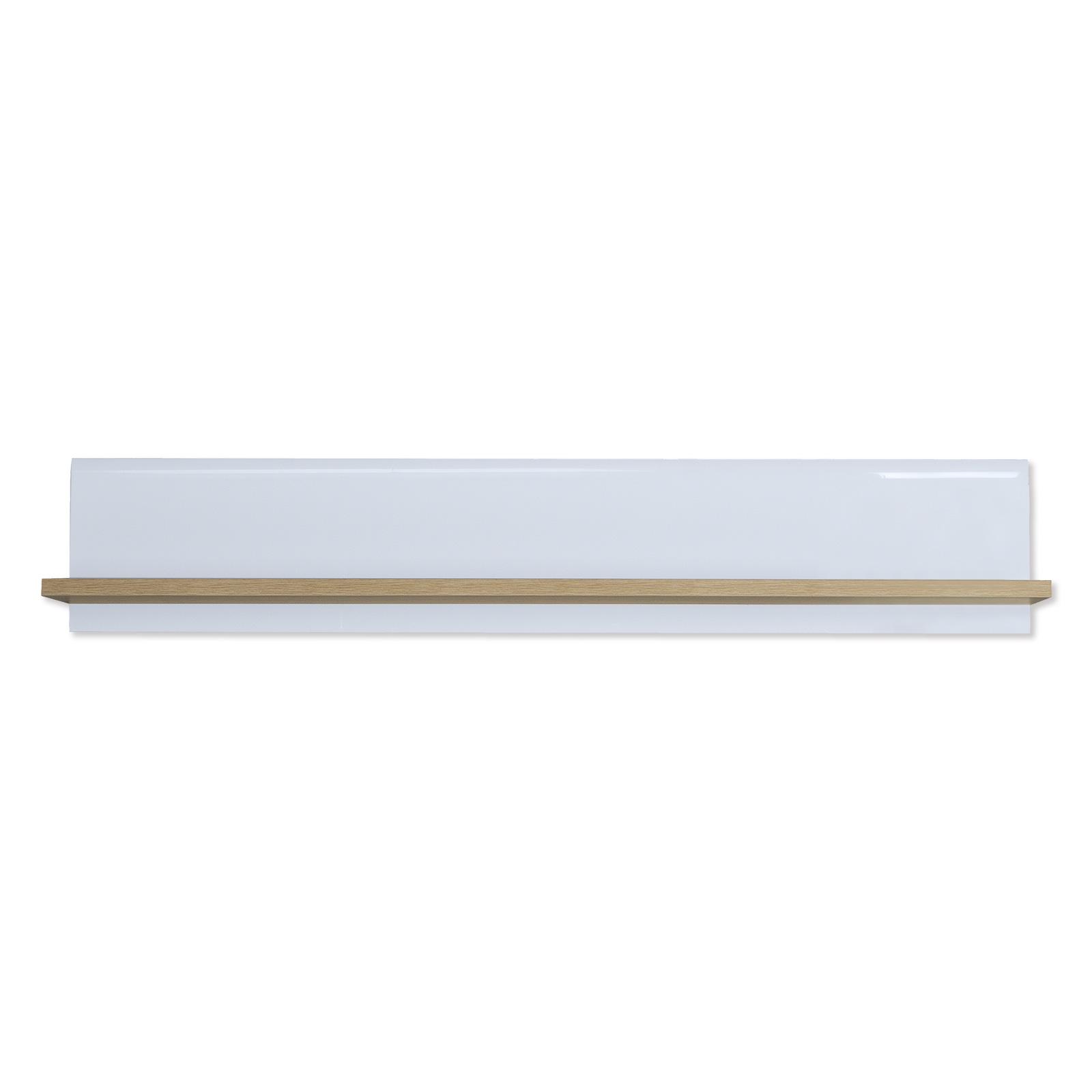 Wandboard - Sonoma Eiche-weiß Hochglanz - 144 cm breit