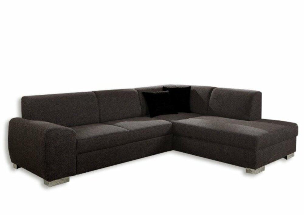 polsterecke dunkelbraun federkern ottomane rechtsangebot. Black Bedroom Furniture Sets. Home Design Ideas