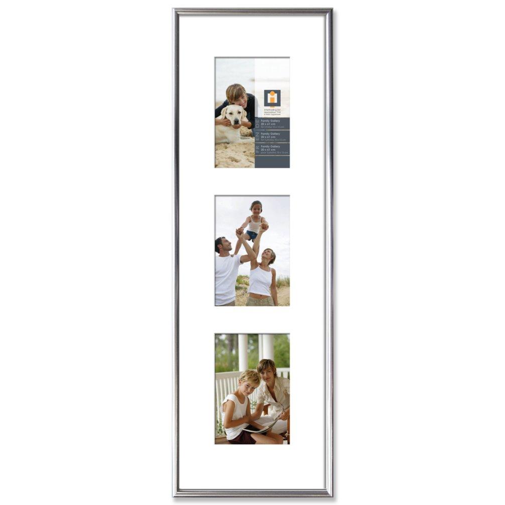 3er galerie rahmen multishot silber 20x61 cm bilderrahmen deko artikel deko haushalt. Black Bedroom Furniture Sets. Home Design Ideas