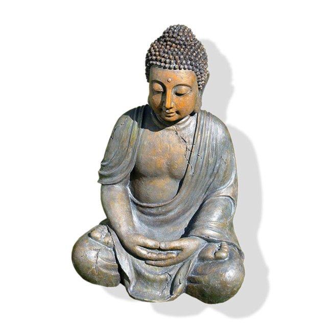 Buddha Figur Grau Beige 40 Cm Hoch Dekofiguren