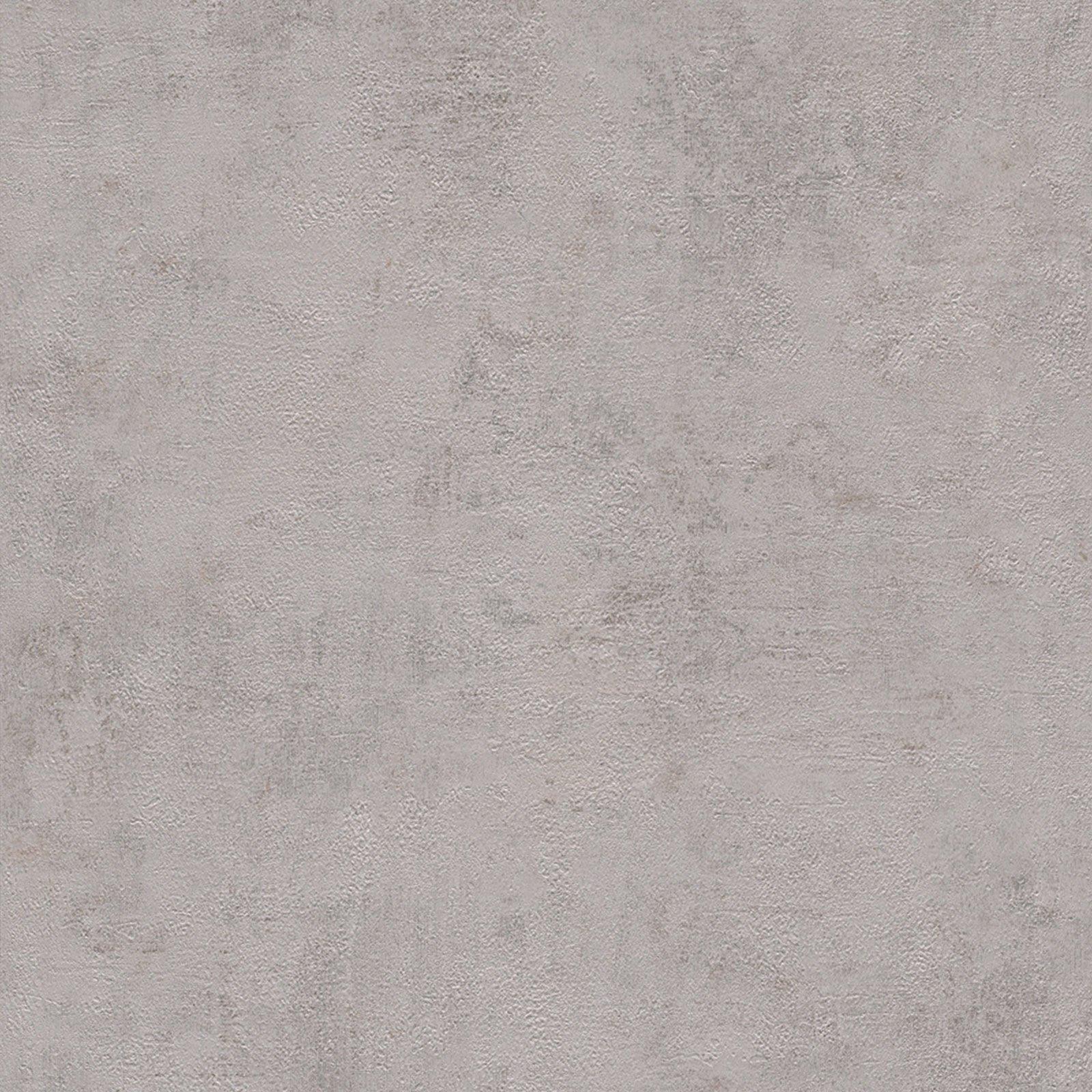 Papiertapete - Uni - grau - 10 Meter