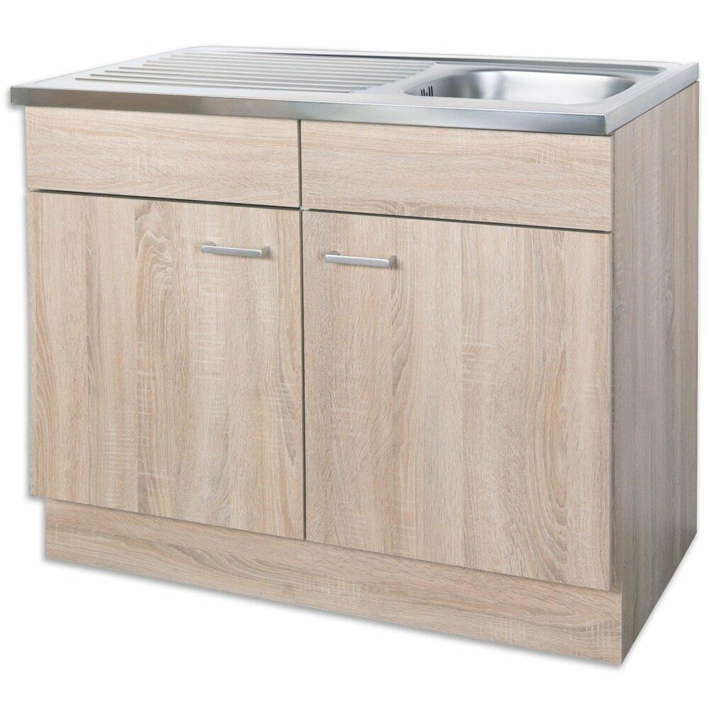 sp lenunterschrank sinja sonoma eiche 100x50 cm k che sinja schrankserien. Black Bedroom Furniture Sets. Home Design Ideas