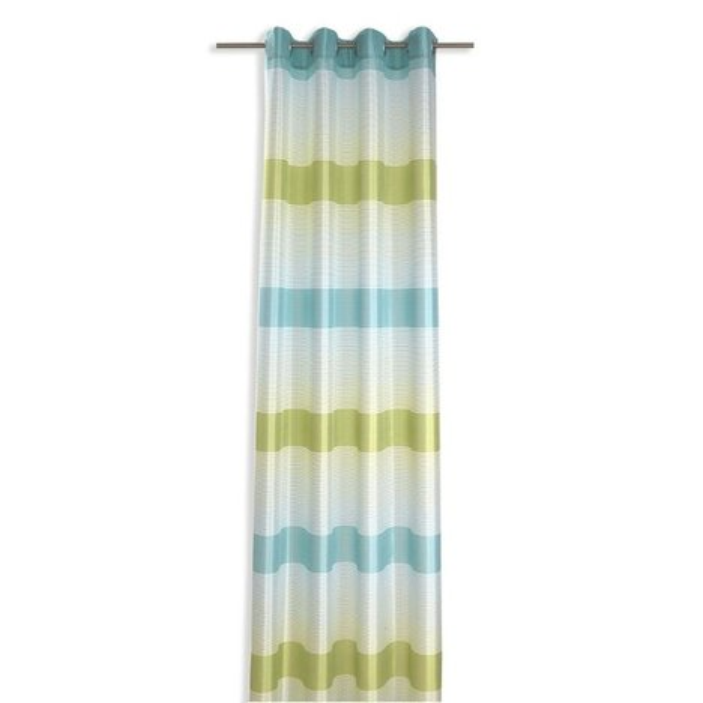 senvorhang lista gr n t rkis 144x245 cm transparente gardinen gardinen vorh nge. Black Bedroom Furniture Sets. Home Design Ideas