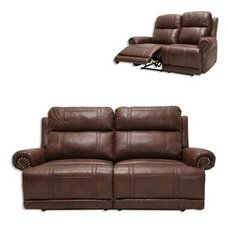 2-Sitzer-Sofa - braun - Relaxfunktion