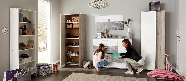 mehr ordnung im haushalt wohnideen roller m belhaus. Black Bedroom Furniture Sets. Home Design Ideas