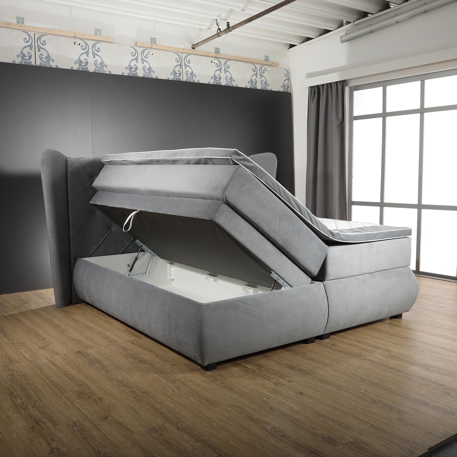 boxspringbett grau 180x200 cm online bei roller kaufen