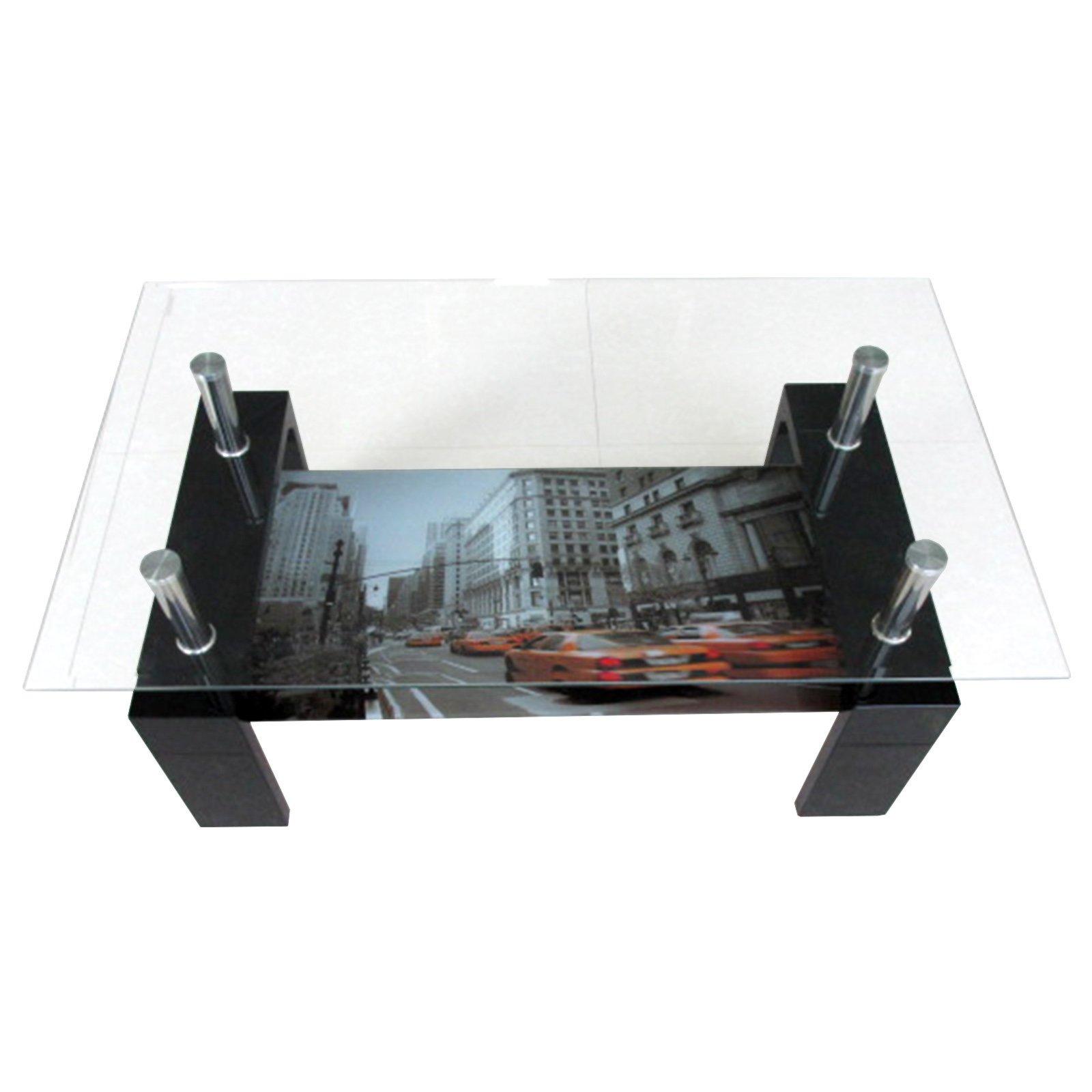 Couchtisch CITRUS  schwarz Hochglanz  Glasplatte