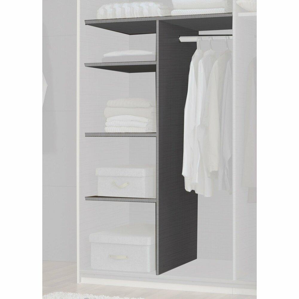 w scheeinteilung mit kleiderstange f r 90 cm fach kleiderschrank zubeh r kleiderschr nke. Black Bedroom Furniture Sets. Home Design Ideas