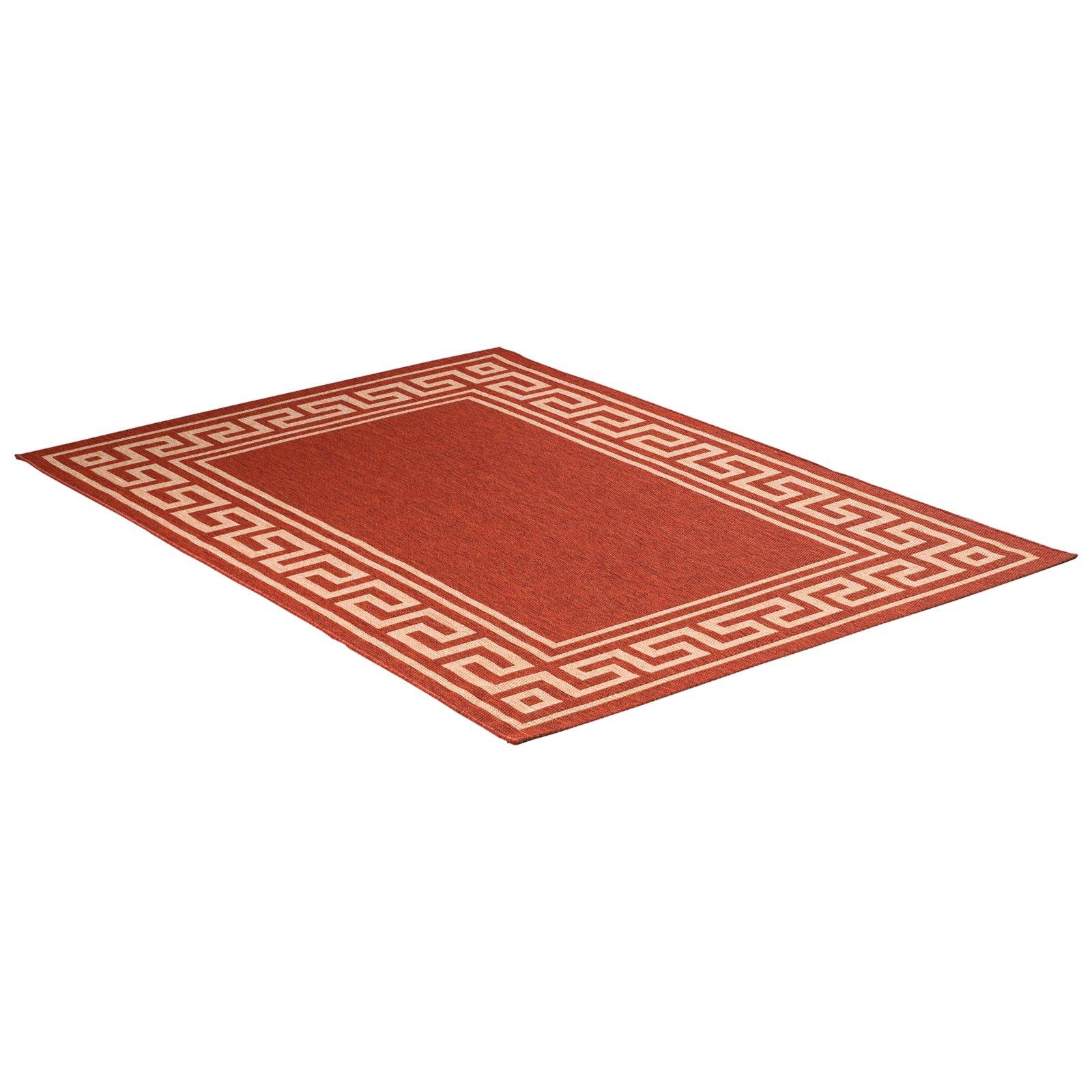 teppich oslo terracotta 80x240 cm gemusterte teppiche teppiche l ufer deko. Black Bedroom Furniture Sets. Home Design Ideas