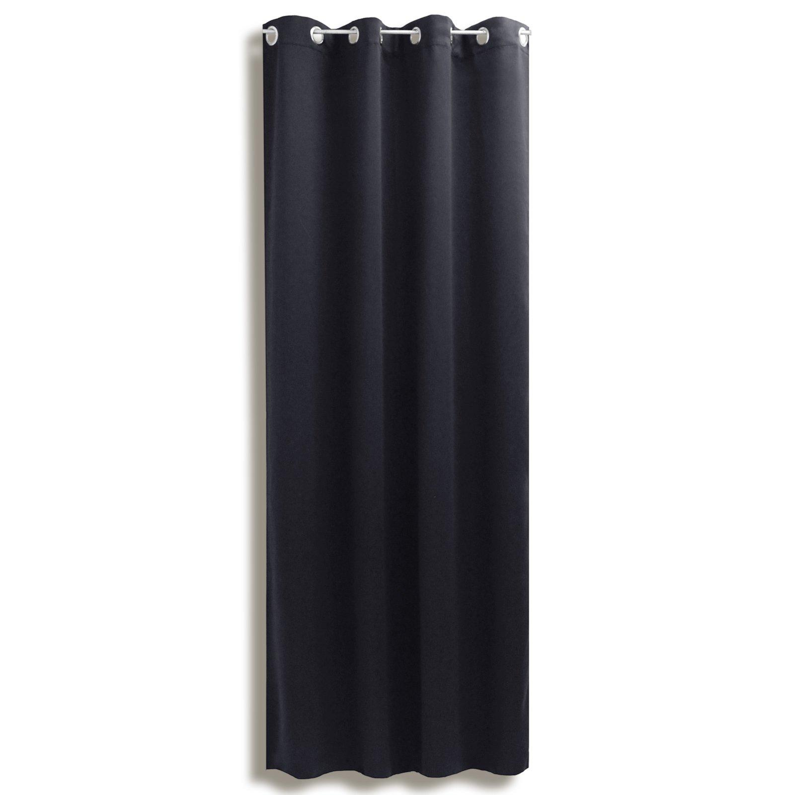 Verdunklungsvorhang LANOS - schwarz - 140x175 cm