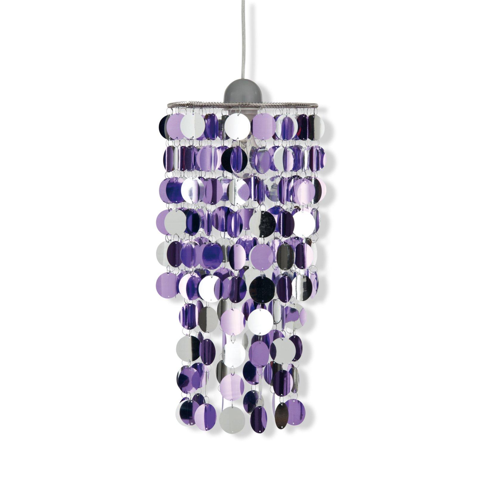 pendelleuchte fancy pailletten lila pendelleuchten. Black Bedroom Furniture Sets. Home Design Ideas