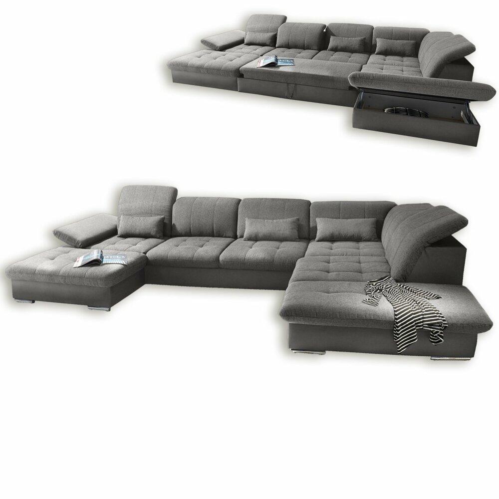 wohnlandschaft anthrazit liegefunktion wohnlandschaften u form sofas couches m bel. Black Bedroom Furniture Sets. Home Design Ideas