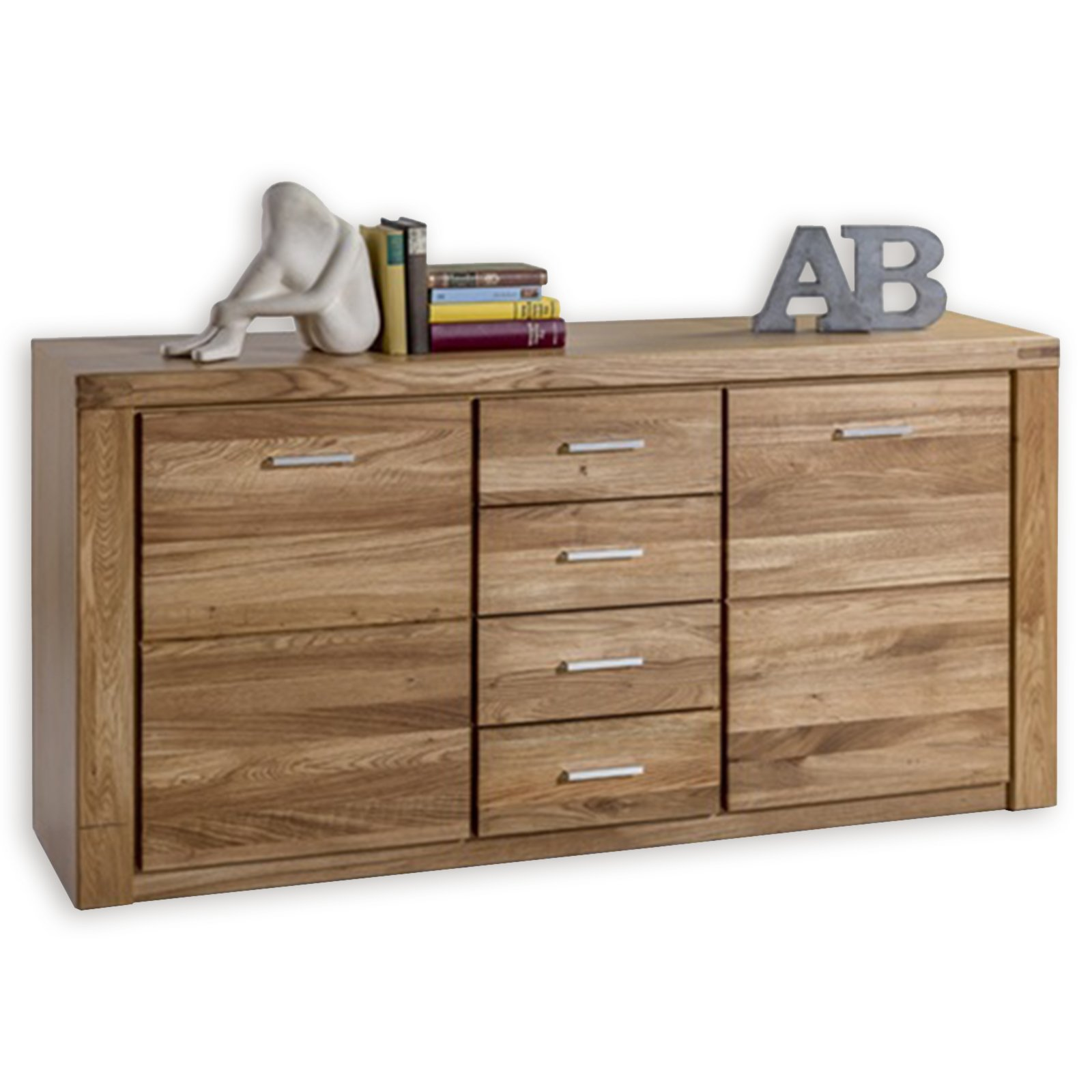 sideboard tabea wildeiche teilmassiv 155 cm kommoden sideboards m bel roller m belhaus. Black Bedroom Furniture Sets. Home Design Ideas