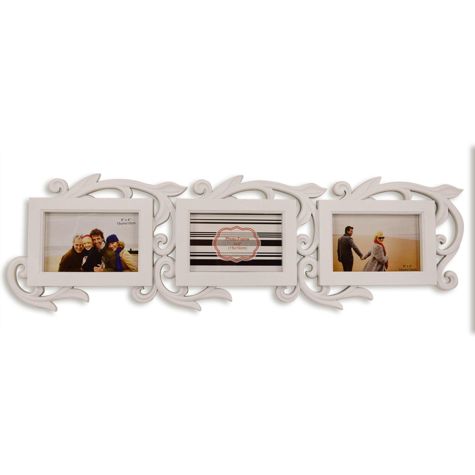 bilderrahmen wei f r 3 fotos bilderrahmen dekoration deko haushalt roller m belhaus. Black Bedroom Furniture Sets. Home Design Ideas
