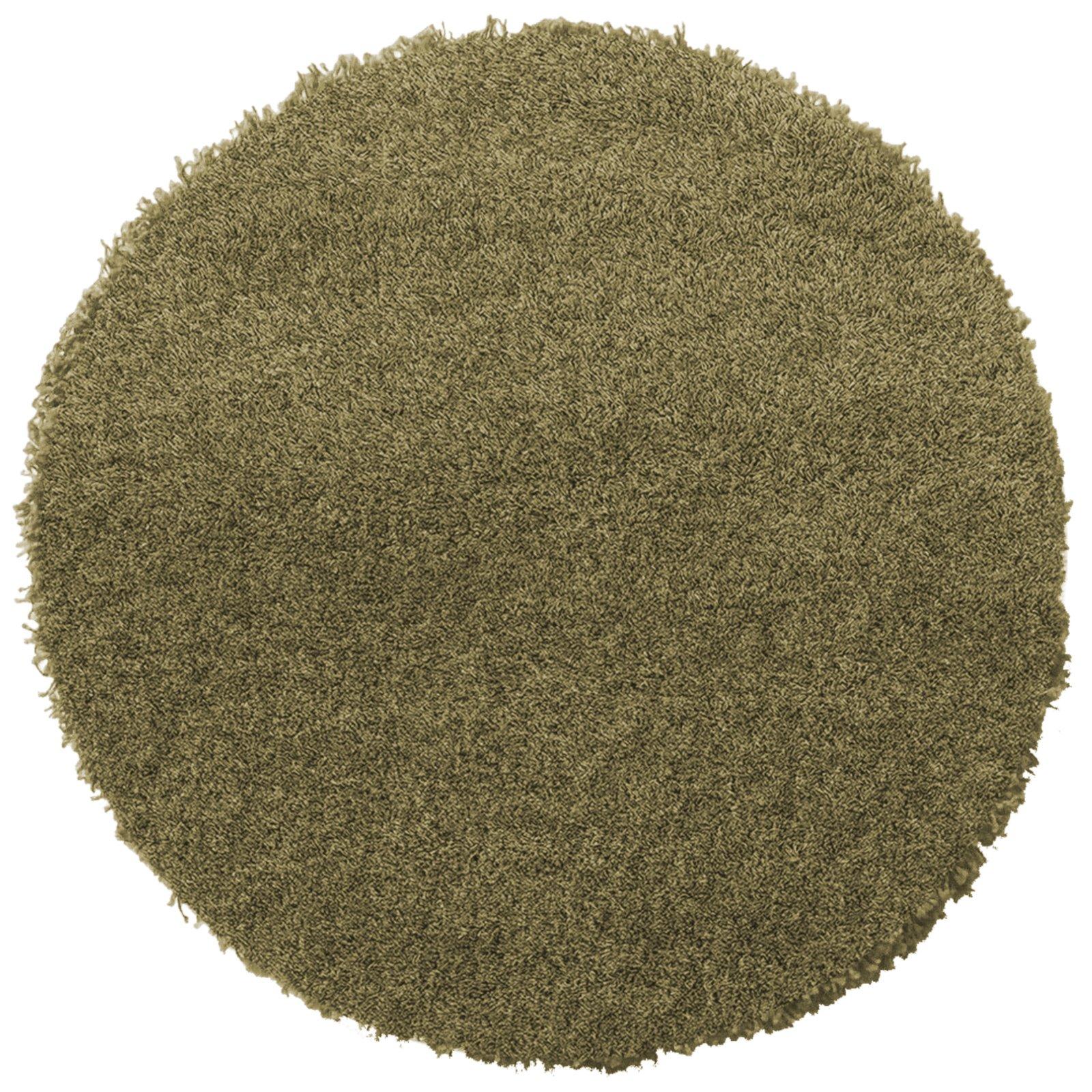 hochflor teppich shaggy plus gr n rund 200 cm hochflor shaggyteppiche teppiche. Black Bedroom Furniture Sets. Home Design Ideas