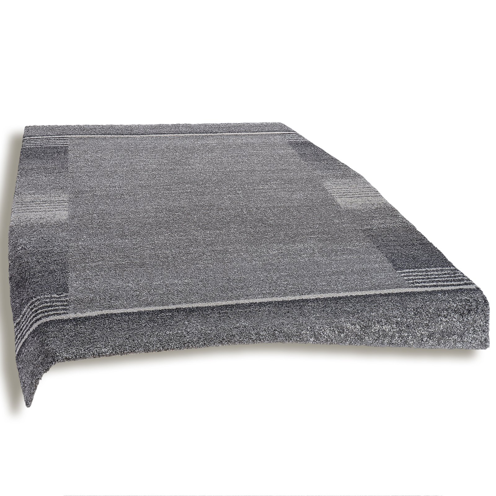 teppich wien dunkelgrau 80x150 cm gemusterte. Black Bedroom Furniture Sets. Home Design Ideas