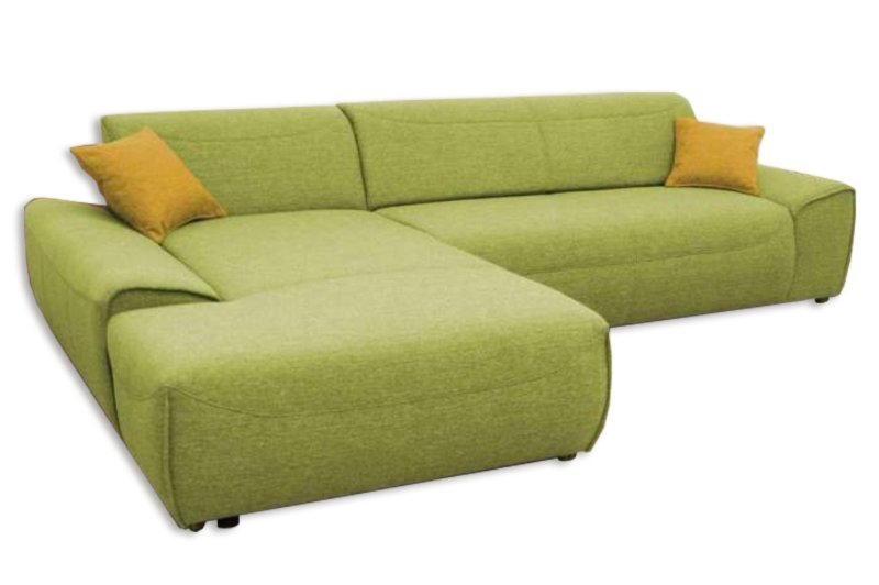ecksofa gr n recamiere links ecksofas l form sofas couches m bel roller. Black Bedroom Furniture Sets. Home Design Ideas