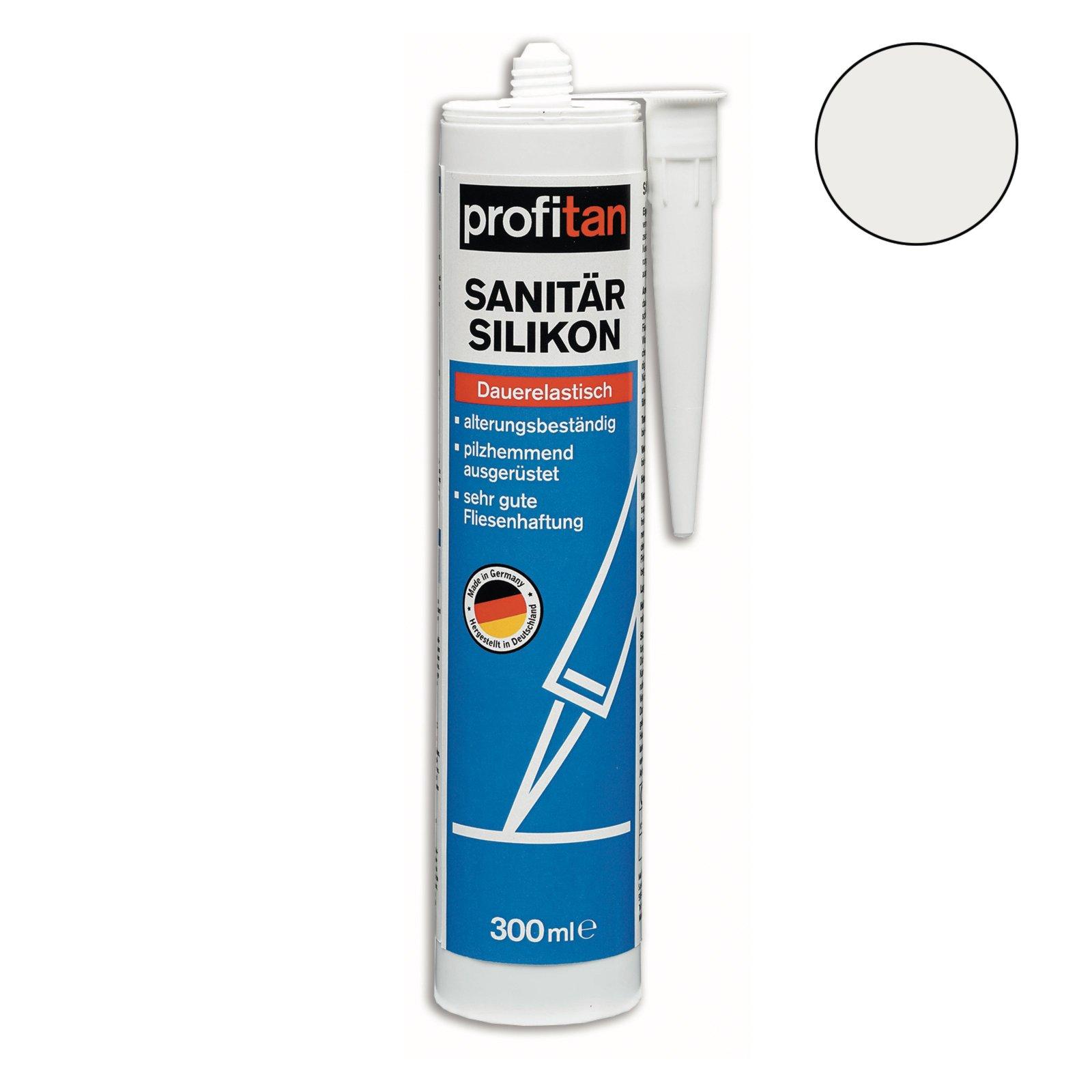 profitan Sanitär-Silikon - silbergrau - 300 ml