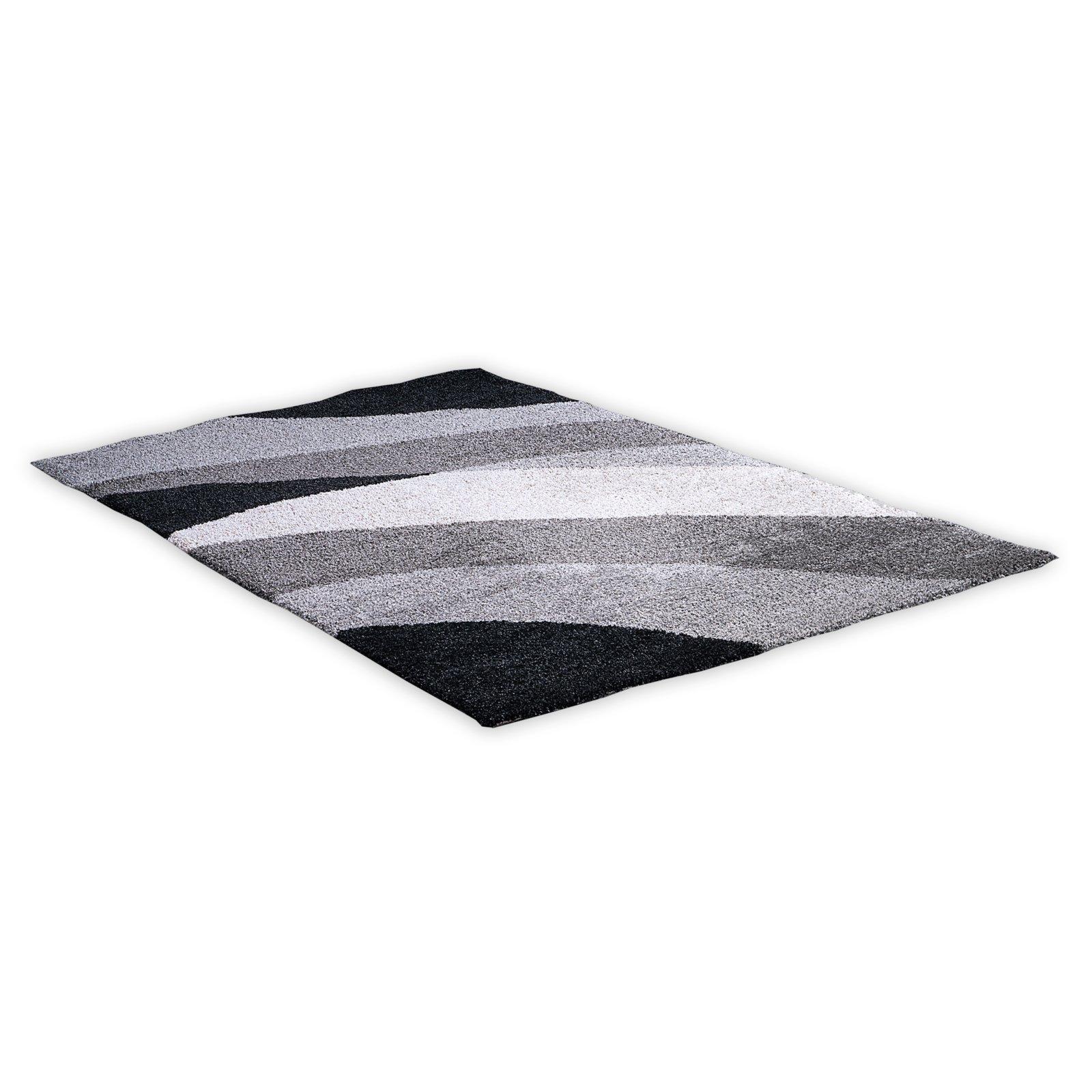 Teppich NOVA  grauschwarz  200×290 cm  Gemusterte