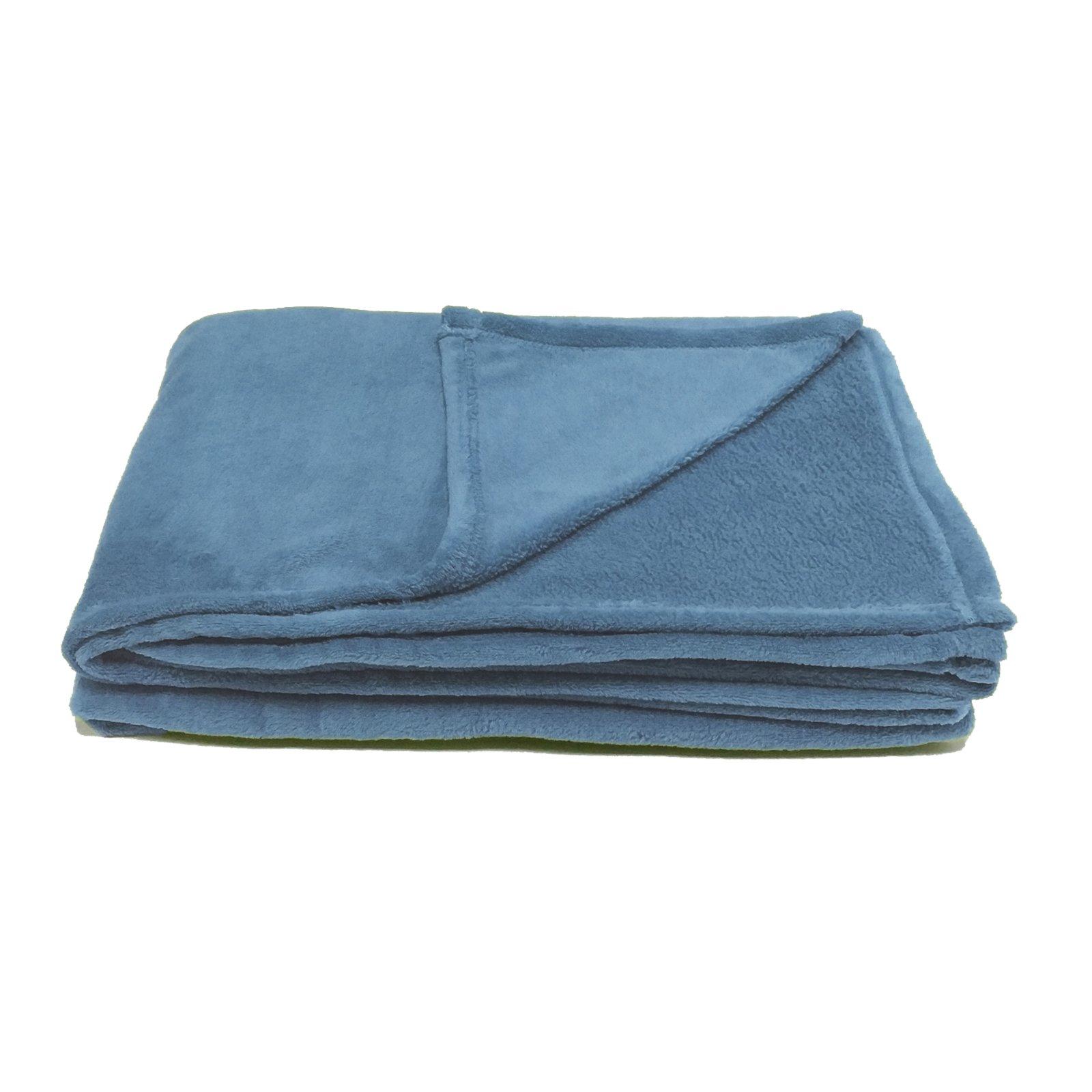 Microfaserdecke CORAL - blau - 150x200 cm