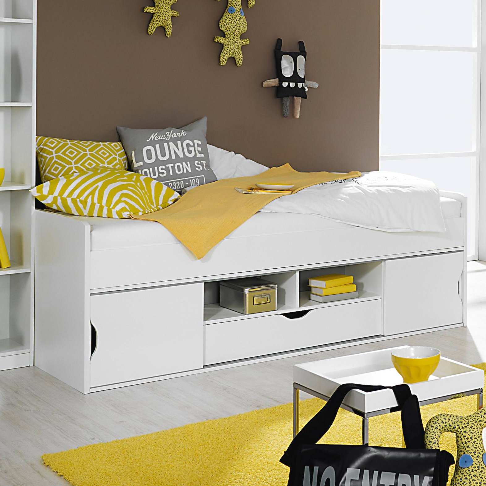 kinderhochbett mit rutsche roller. Black Bedroom Furniture Sets. Home Design Ideas