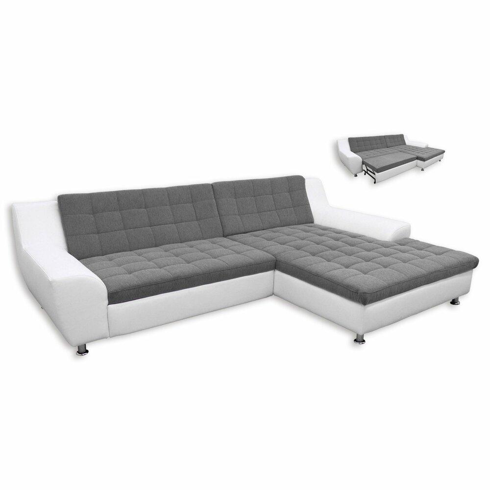 ecksofa morton wei grau mit liegefunktion recamiere rechts ecksofas l form sofas. Black Bedroom Furniture Sets. Home Design Ideas