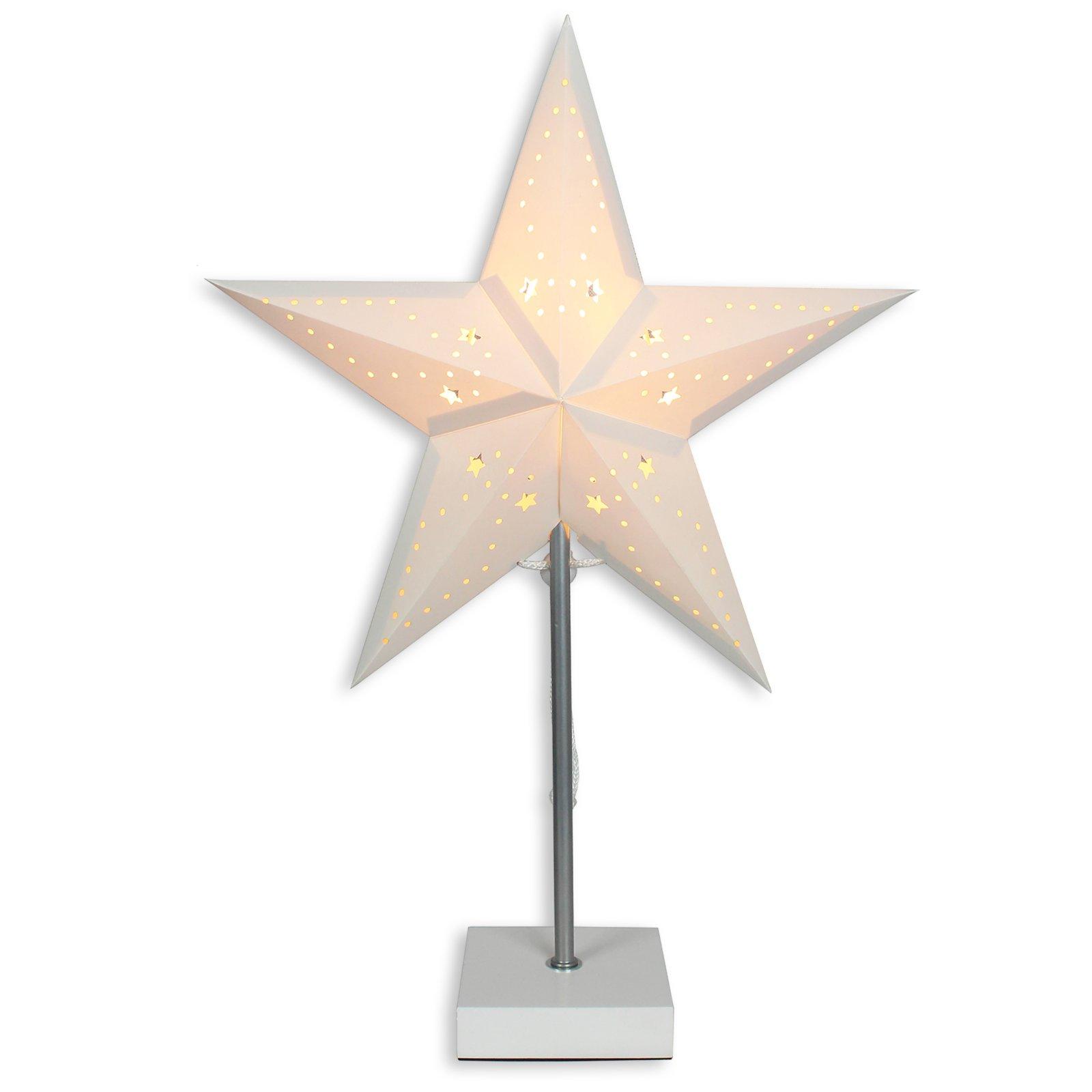 Tischleuchte stern papier 50 cm tischlampen for Lampen papier