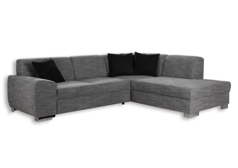 polsterecke silber federkern ottomane rechts ecksofas l form sofas couches m bel. Black Bedroom Furniture Sets. Home Design Ideas