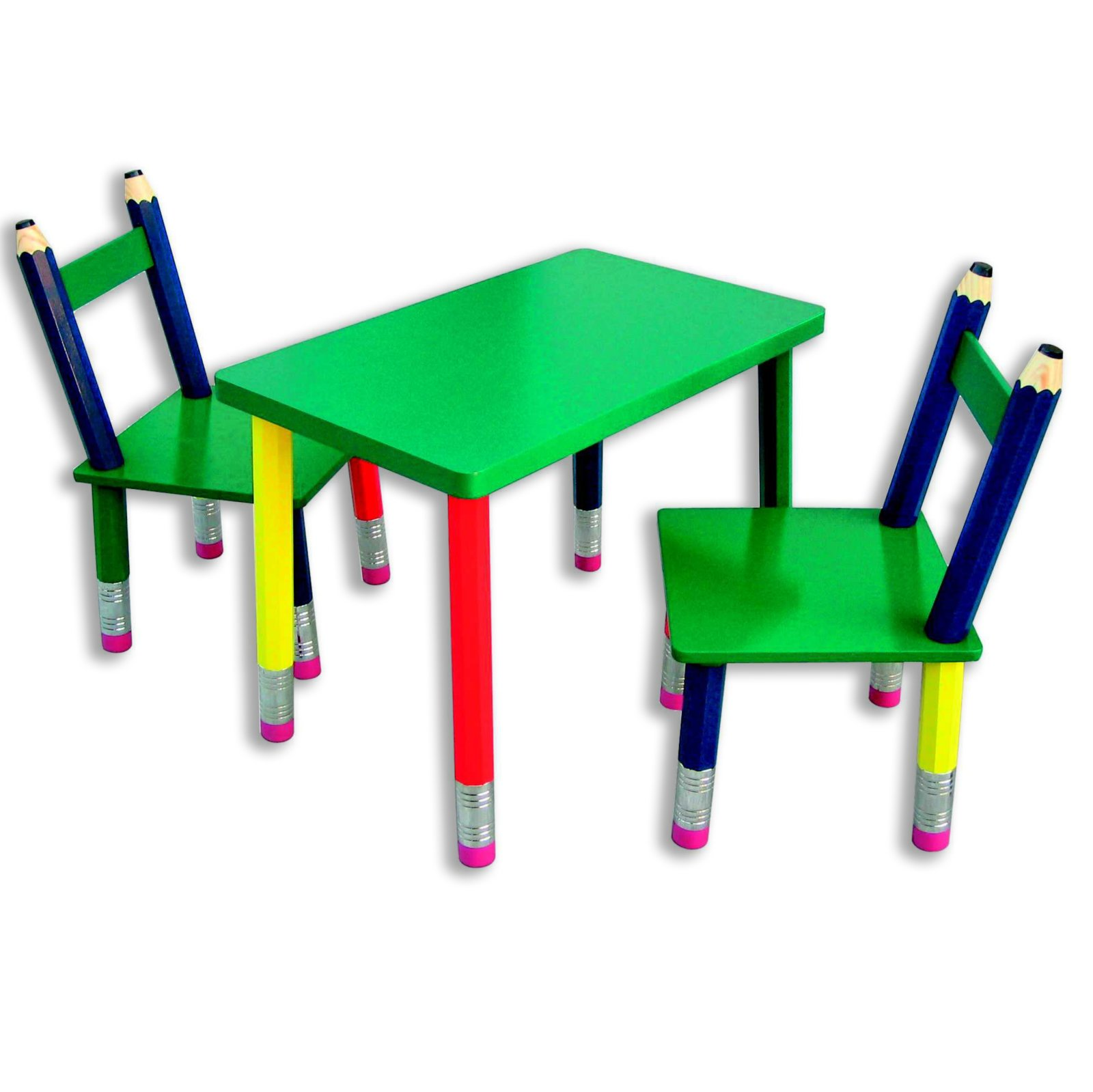 Kinder-Sitzgruppe - 3 tlg. - Buntstift-Optik | Kinderstühle | Kinder ...