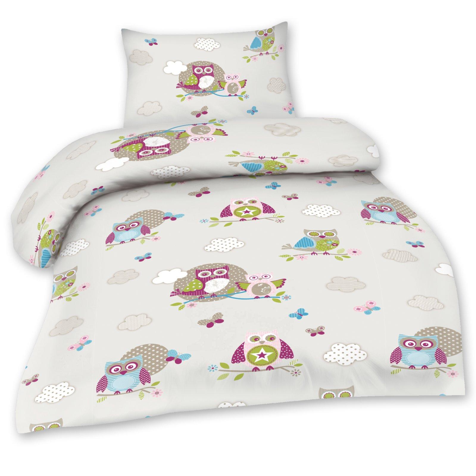 baby bettw sche optidream kids eule creme 72x68 cm kinderbettw sche bettw sche. Black Bedroom Furniture Sets. Home Design Ideas
