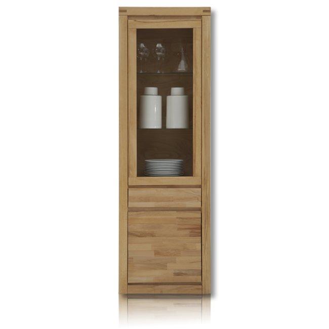 vitrine delft kernbuche massiv 65 cm breit vitrinen wohnzimmer wohnbereiche roller. Black Bedroom Furniture Sets. Home Design Ideas