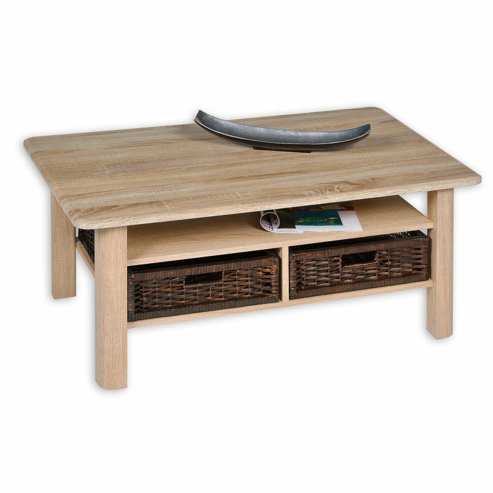 couchtisch memphis sonoma eiche mit 2 k rben couchtische wohnzimmer wohnbereiche. Black Bedroom Furniture Sets. Home Design Ideas
