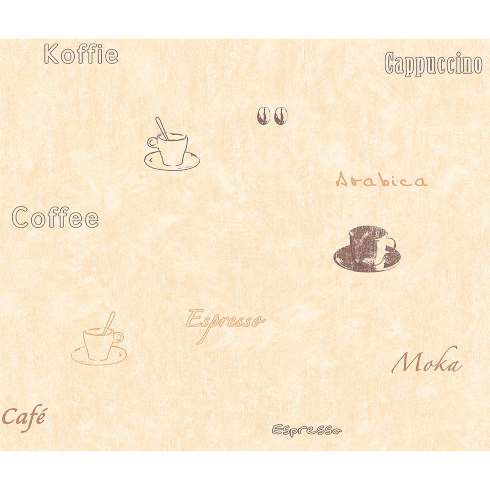 Tapete beige braun kaffee motiv papiertapeten for Tapete beige braun
