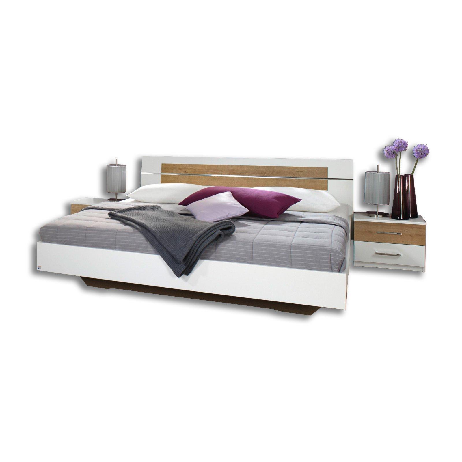 bettanlage burano alpinwei eiche riviera 180x200 cm bettgestelle betten m bel roller. Black Bedroom Furniture Sets. Home Design Ideas