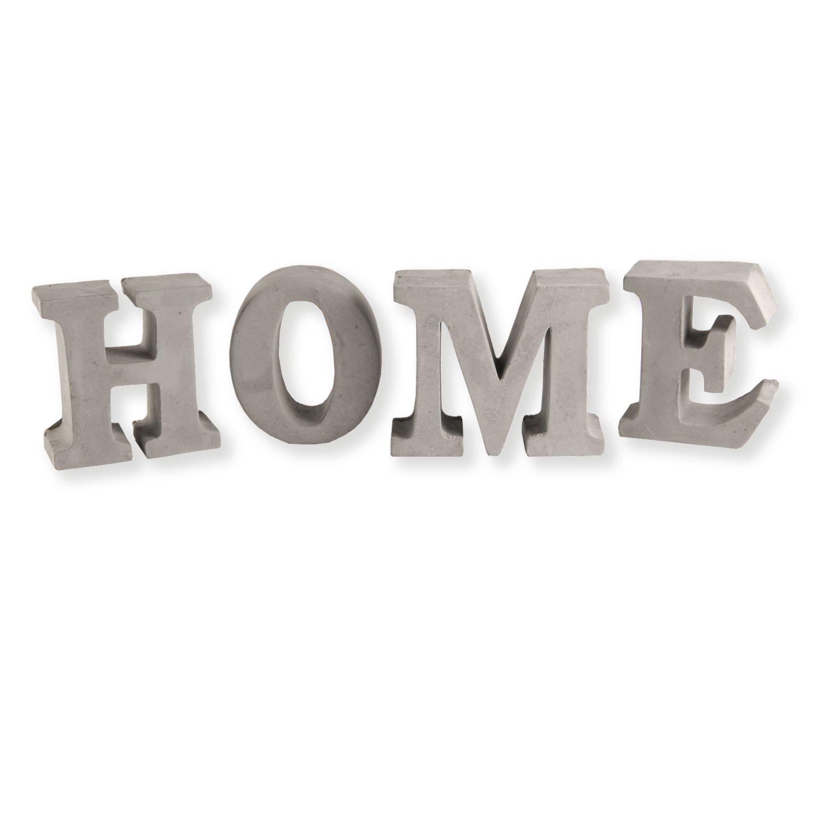 Deko-Buchstaben HOME - Zement - 10x20 cm