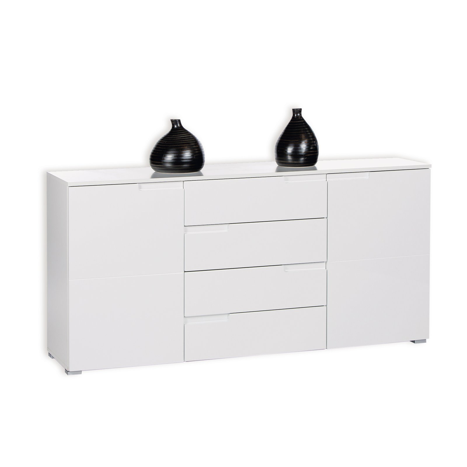 roller sideboard spice wei hochglanz 165 cm ebay. Black Bedroom Furniture Sets. Home Design Ideas
