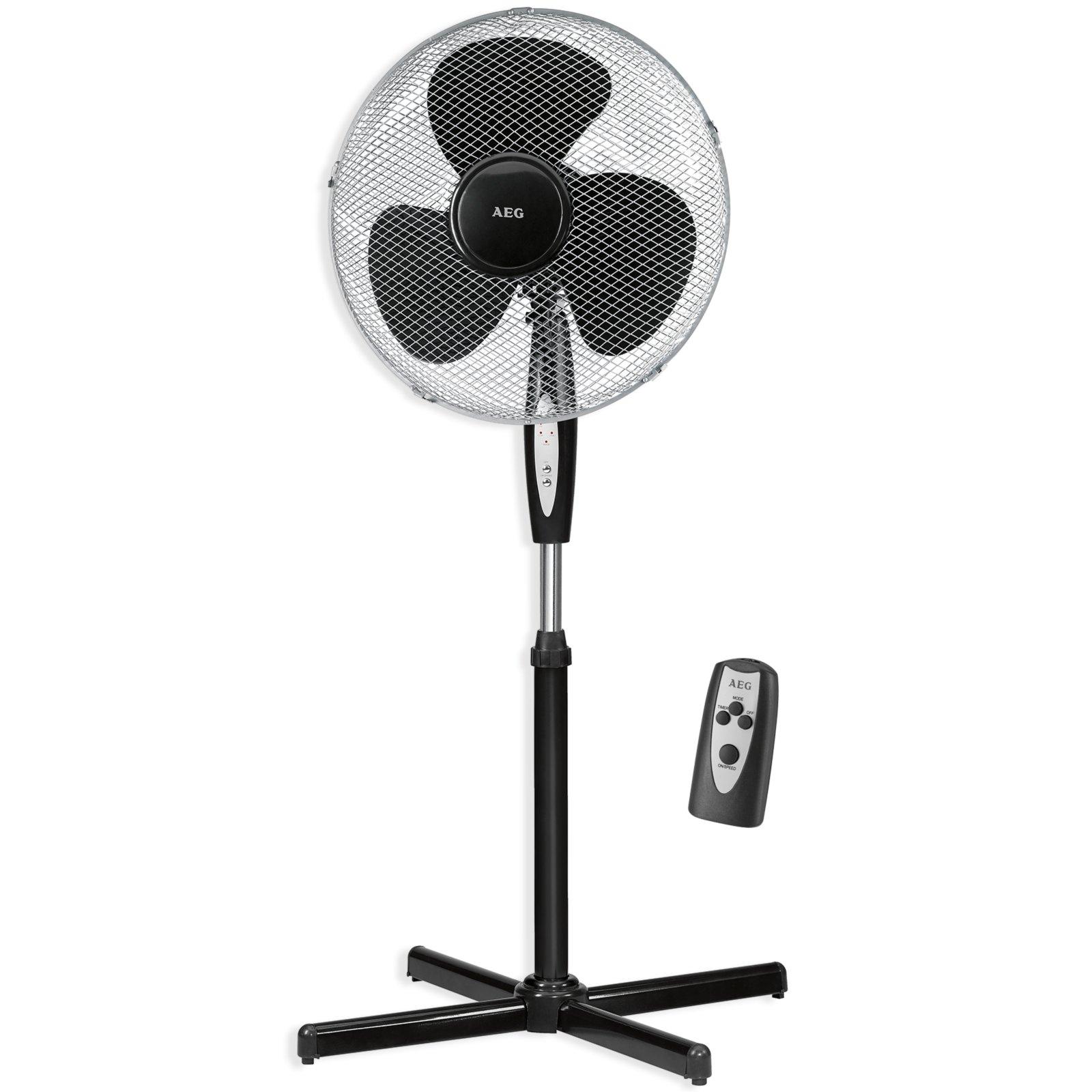 aeg stand ventilator 520695 schwarz mit fernbedienung sonstige elektrokleinger te deko. Black Bedroom Furniture Sets. Home Design Ideas
